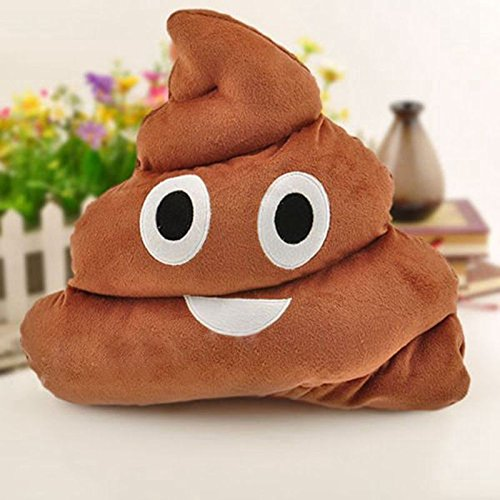Soft Emoji Poo Shaped Stuffed Pillow Cushion Smiley Face Toy Sofa Decor - Nerd I Glasses Can Buy Where