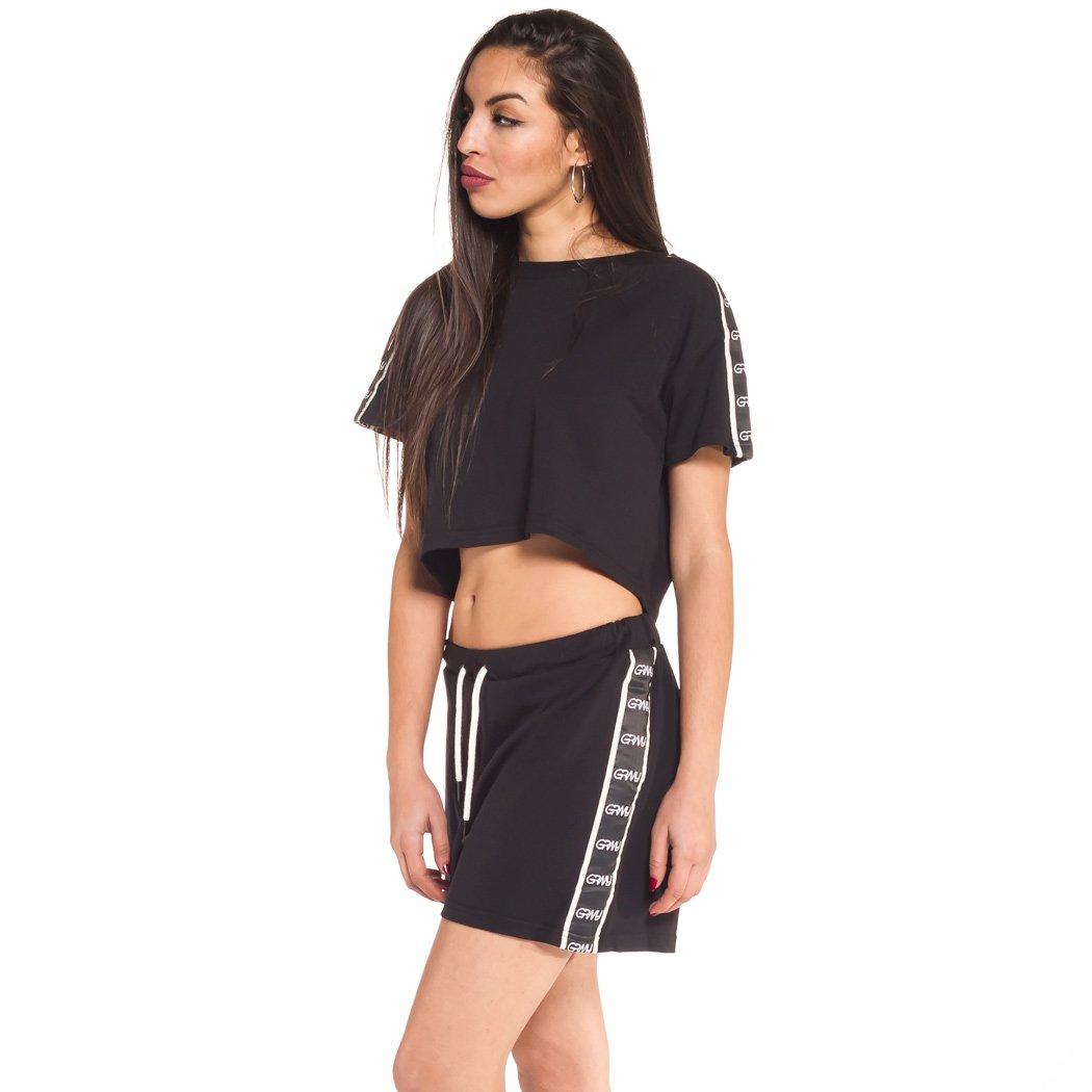 GRIMEY Camiseta Chica MANGUSTA V8 Crop Top SS18 Black