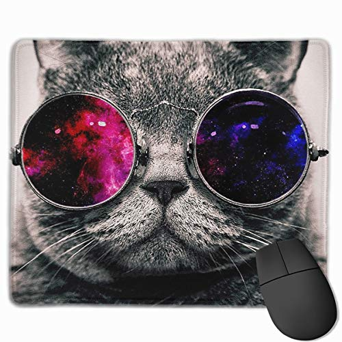 Smooth Mouse Pad Red Black Glass Personality Cat Kitty Mobile Gaming Mousepad Work Mouse Pad Office Pad]()