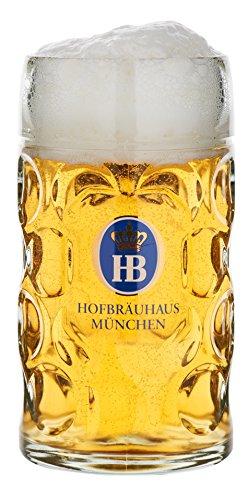 - German Beer Mug Munich Hofbräuhaus München HB glass mug 0.5 liter King Werk KI 1000062