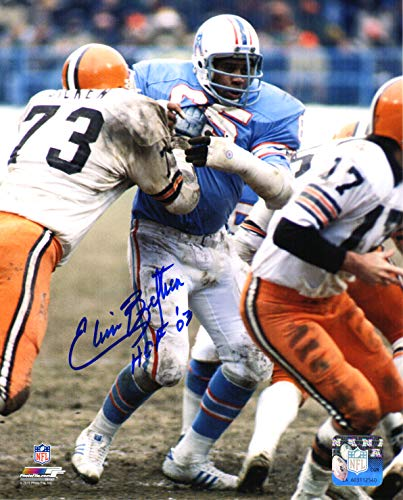 Elvin Bethea Signed Houston Oilers Action 8x10 Photo w/HOF'03