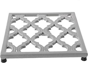 Square Cast Iron Trivet Gray Metal Trivets for Kitchen Dining