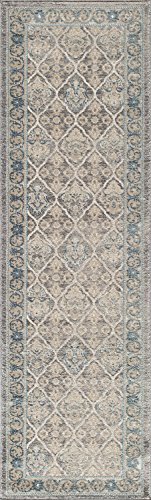 Momeni Rugs KERMAKE-06TAU2376 Kerman Collection, Antique Persian Inspired Traditional Area Rug, 2'3