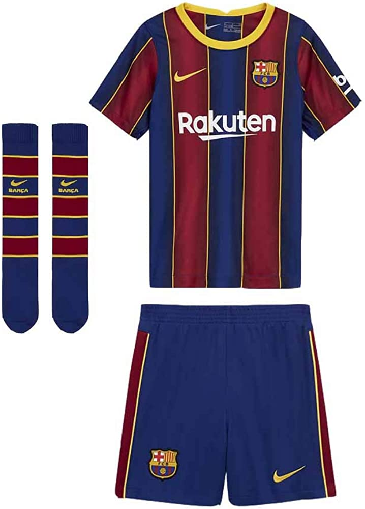 Nike 2020-2021 Barcelona Home Little Boys Mini Kit