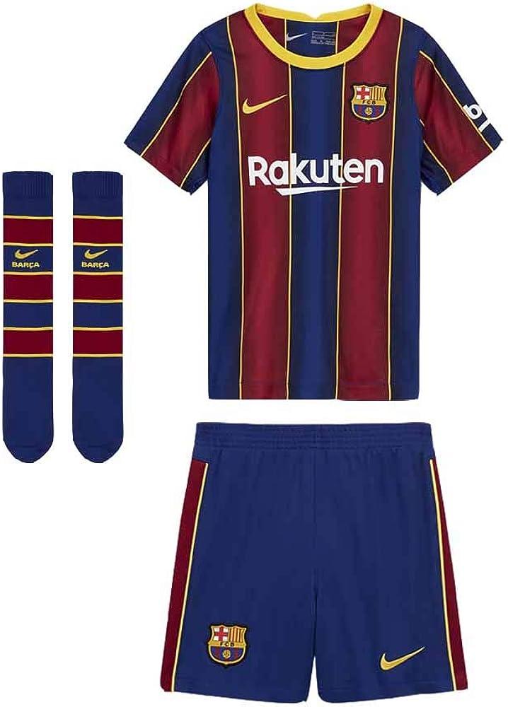 amazon com nike 2020 2021 barcelona home little boys mini kit clothing nike 2020 2021 barcelona home little boys mini kit