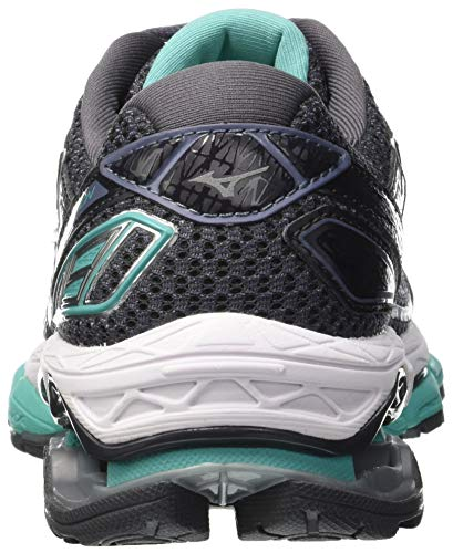 05 Mizuno Creation Gris De Para turquoise magnet Zapatillas Mujer Running Wave 19 silver pprOg7