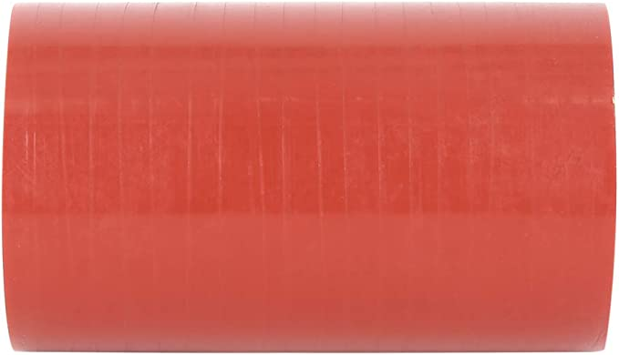 X AUTOHAUX 55mm ID Red Straight Silicone Hose Coupler Intercooler Tube