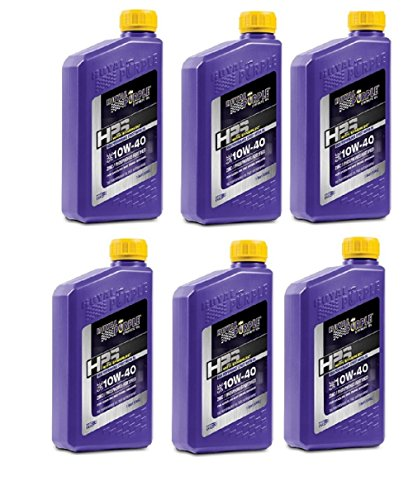 Royal Purple 31140 HPS Street Synthetic Motor Oil 10W-40 for Max Performance Modified Engines 1 qt (Case of 6)