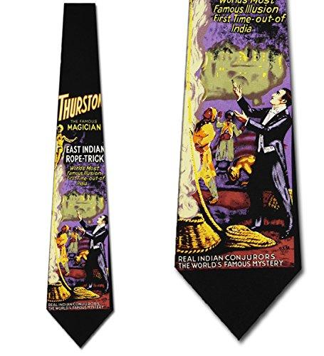 Magic Tie - Magic Ties Magic Neckties Thurston the Famous Magician Tie Mens Neck tie