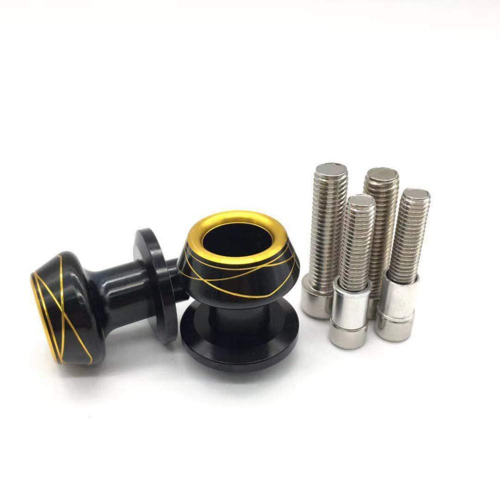 Motorcycles Swingarm Sliders Spools Swing Arm Protector CNC Stand Screws Universal for 10mm 8mm Blue