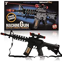 Creatif Ventures Light and Sound Army Style Machine Gun Toy with Vibration - M4-1 , 20 Inches Long PUBG Musical Toy Gun for Kids Boys