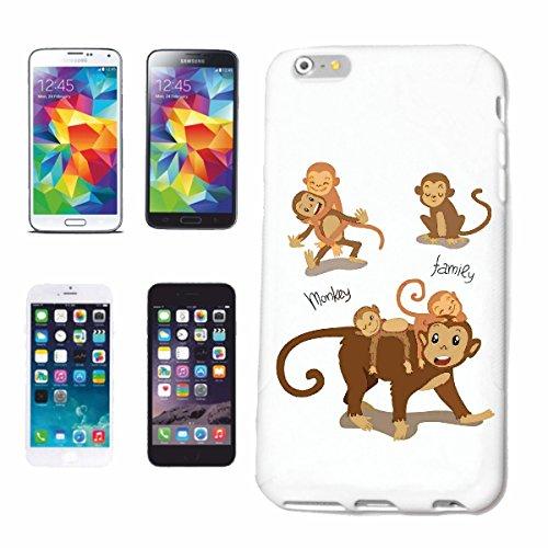 caja del teléfono iPhone 7S MONO DE LA FAMILIA DEL MONO Chimpancé del GORILA posterior de la plata APE CHARLY MONKEY KING KONG Caso duro de la cubierta Teléfono Cubiertas cubierta para el Apple iPho