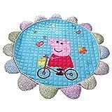 HOTNIU Cartoon Animal Kids Rug - Nursery Style Peppa Pig Round Shape Ultra Soft Baby Rug - Cute Colorful Attractive to Kids for Play Mat, Children's Floor, Bedroom, Living Room (Peppa Pig #1)