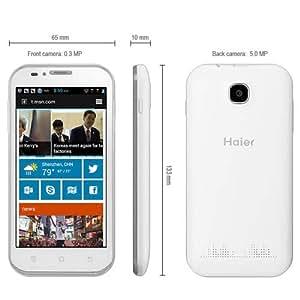 4.5 Haier W850 Android 4.1 teléfono elegante 3G MSM8625Q Quad Core de 1,2 GHz con pantalla WVGA 512MB RAM 4GB ROM pulgadas - Blanco
