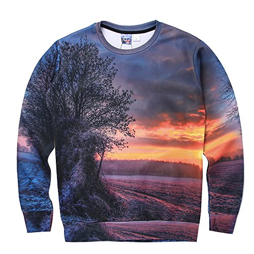 Price comparison product image Retrograder Men's Fashion 3D Print Long Sleeve Casual Printing Pullover SweatShirts h01-8031-US-XS(Asian-M)