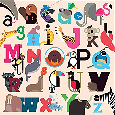 Mudpuppy 500 Piece Animals A to Z Family Jigsaw Puzzle, Cute Illustrated Puzzle with Pictures of Animals from Around The World: Toys & Games