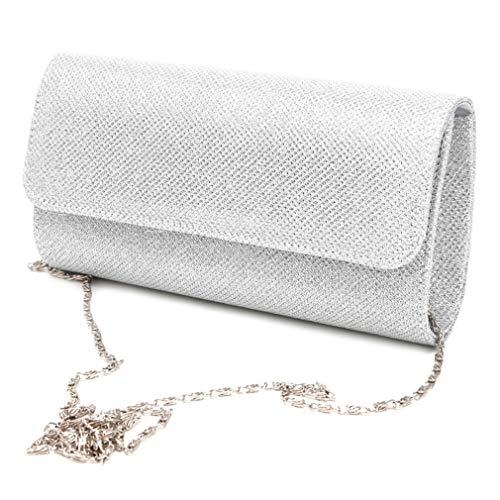 Handbag Envelope Shoulder Silver Party Clutch Women's Bridal Prom Bag Wedding Evening pwz7xqSa