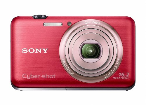 Sony Cyber-Shot DSC-WX9 16.2 MP Exmor R CMOS Digital Still Camera with Carl Zeiss Vario-Tessar 5x Wide-Angle Optical Zoom Lens and Full HD 1080/60i Video (Red)