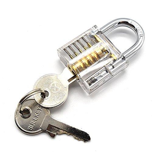 rarelock transparente visible Cutaway Práctica Candado Cerradura de cerrajero para principiantes
