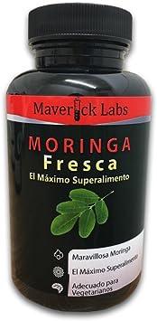 MORINGA Cápsulas: ¡Moringa Natural y Pura, de la Mayor Calidad, Obtenida Directamente del Árbol de Moringa! ¡Desintoxicante Natural! 90 Cápsulas, Apto ...
