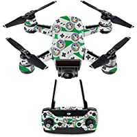Skin for DJI Spark Mini Drone Combo - Retro Controllers 1| MightySkins Protective, Durable, and Unique Vinyl Decal wrap cover | Easy To Apply, Remove, and Change Styles | Made in the USA