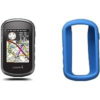 Garmin - eTrex Touch 35 - GPS de randonnée - Compas électronique 3 Axes et écran Tactile - Cartes TopoActive Europe de l'Ouest Préchargées - Noir + Bumper de Protection - Silicone - Bleu