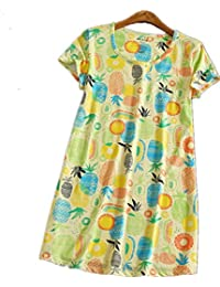 Amoy-Baby Women's Cotton Blend Floral Nightgown Casual Nights XTSY108