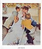 1979 Norman Rockwell 'Soda Fountain' Americana Vintage Print Wall Art