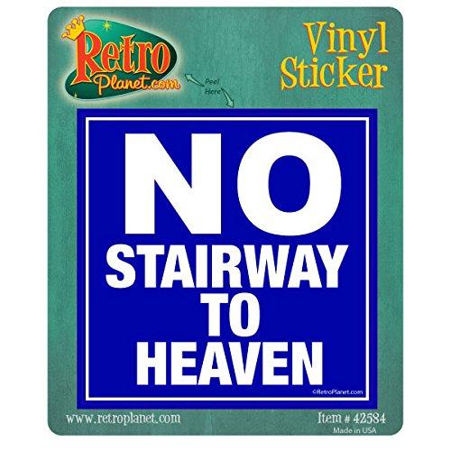 No Stairway To Heaven Music Vinyl Sticker Waynes World