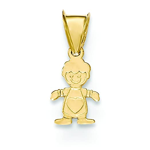 walmart little com affd gold ip pendant boy white charm