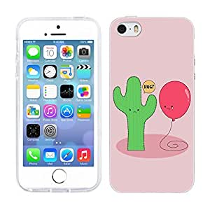 DIY Case Designs Cactus and Balloon Impossible Love Silicone Gel Back Case Cover for Apple iPhone 5 5s by ruishername