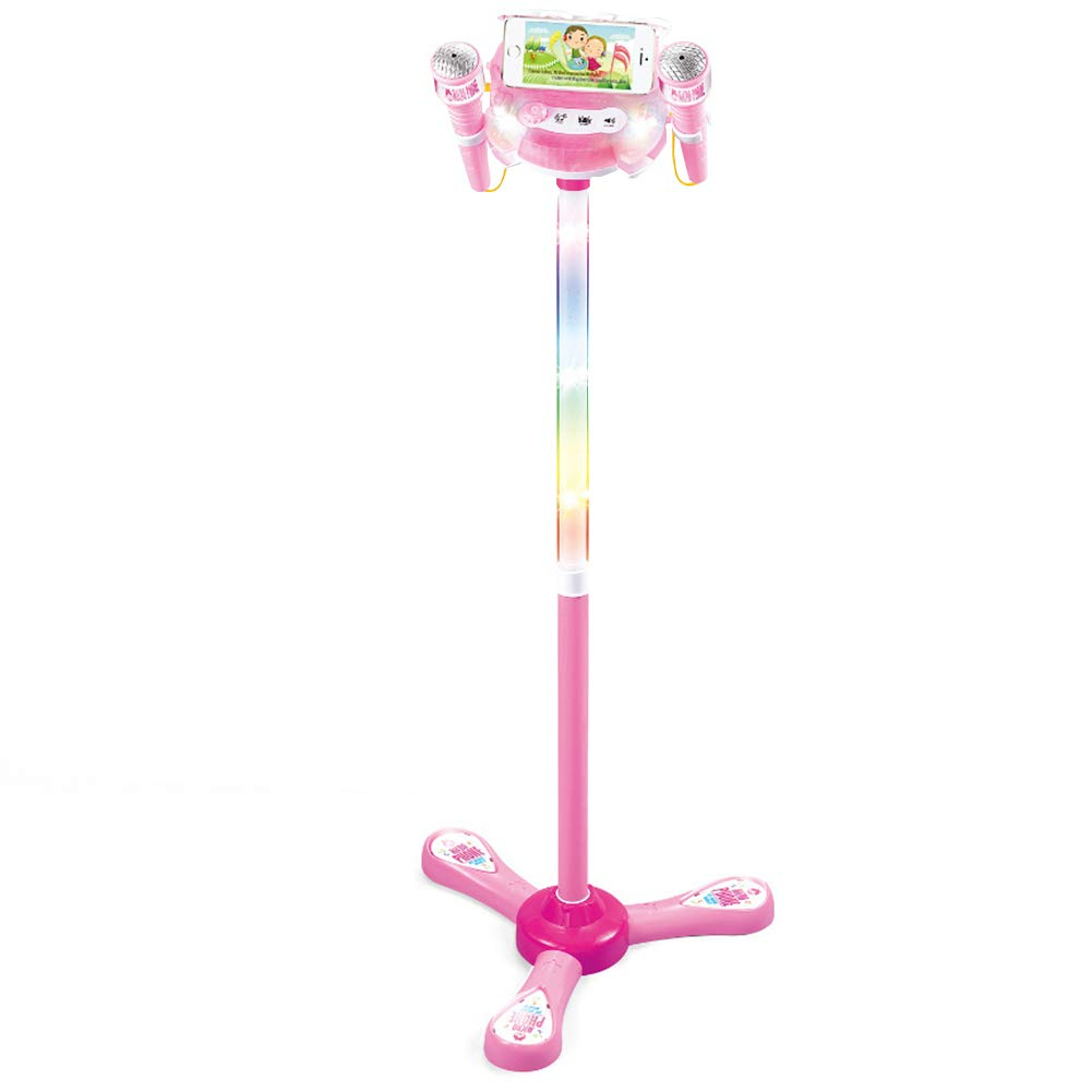 Kbabyokes Karaoke Mikrofon Kinder Spielzeug Weizen-Note-Karaoke-Gesangspielzeug des Frühen Bildungsmikrofons Kann Doppelten Handy Anschließen