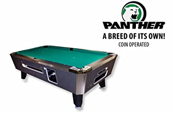 Amazoncom Valley Coin Op Panther Pool Table Charcoal Finish - Panther pool table