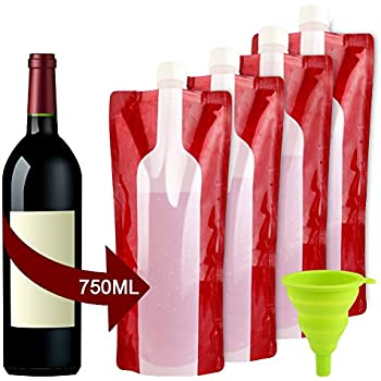 Amazon Com The Foldable Wine Bottle Reusable Bag For
