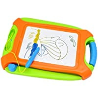 Vivitoy Magnetic Drawing Board Green Erasable Colorful Doodle Drawing Board Travel Size A Toys for Writing Painting and Learning