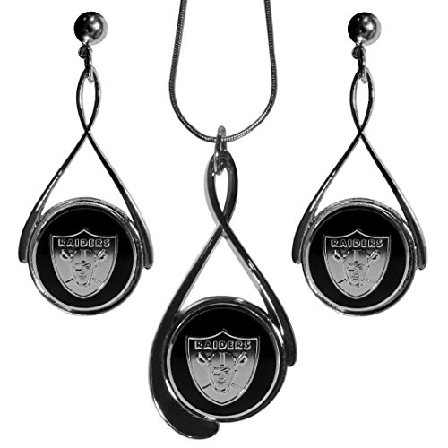 (Siskiyou NFL Oakland Raiders Tear Drop Jewelry Set, 18