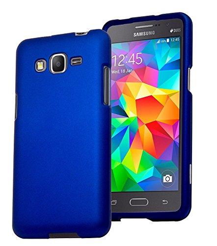 Galaxy Grand Prime, Bastex Heavy Duty Blue Rubberized Snap On Case Cover for Samsung Galaxy Grand Prime