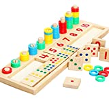 NT_Big Baby Early Educational Toys Puzzle Learning Gift Wood Math Blocks Shape Sorter Knob Montessori Teaching Present