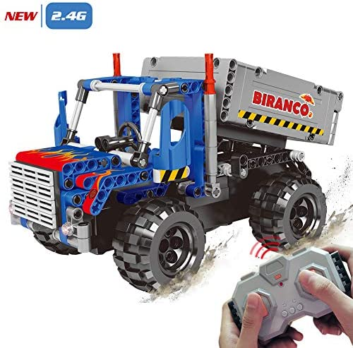 STEM Learning Kit | Truck Construction ToysRemote Control Cool Educational Engineering Building Set for Boys And Girls ages 6 7 8 9 10-12 year old and up Best Toy Gift for Kids Activity Game
