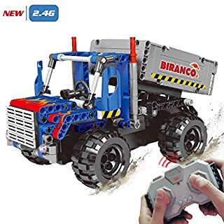 STEM Learning Kit   Truck Construction Toys with Remote Control, Cool Educational Engineering Building Set for Boys And Girls ages 6 7 8 9 10-12 year old and up, Best Toy Gift for Kids, Activity Game