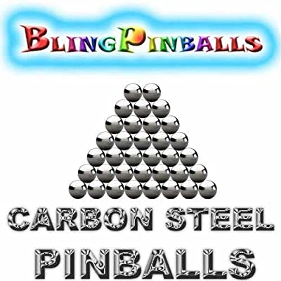 35 Carbon Steel Premium Bling Mirror Finish Pinballs: Industrial & Scientific