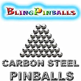 Two 1-1//16 Inch Mirror Finish Carbon Steel Replacement Pinball Machine Balls