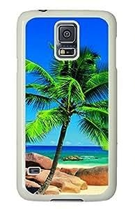 White Fashion Case for Samsung Galaxy S5,PC Case Cover for Samsung Galaxy S5 with The Sea of Hawaii
