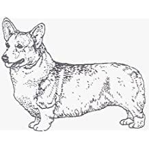 "Dog Rubber Stamp - Welsh Corgi Pembroke-2E (Size: 2-1/4"" Wide X 1-3/4"" Tall)"