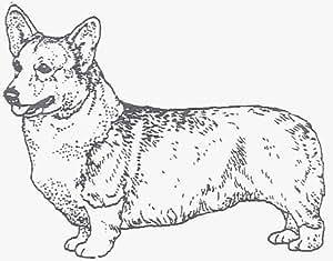 "Dog Rubber Stamp - Welsh Corgi Pembroke-2E (Size: 2-1/4"" Wide X 1-3/4"" Tall)"