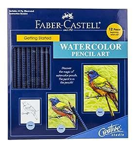 Faber-Castel Creative Studio Getting Started Art Kit, Watercolor Pencil