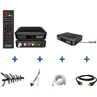 Kit Conversor Digital + Antena + Suporte + Cabo 10m + Cabo HDMI 2m - KIT-SÊNIOR-8000