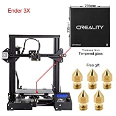Note: As an authorized distributor, Comgrow offer 100% original Creality 3D 3D Printer and professional after sales technical support. Modeling Technology: FDM (Fused Deposition Modeling) Printing Size: 220*220*250mm Machine Size: 440*410*465...