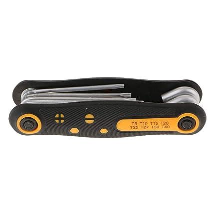 FLAMEER Destornillador Plegable Portátil Fijado para Mantenimiento de Maquinaria de Bici de Coche - #2