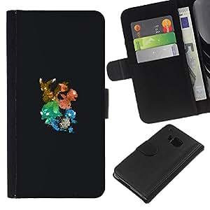LECELL--Cuero de la tarjeta la carpeta del tirón Smartphone Slots Protección Holder For HTC One M7 -- Pintura P0kemon Graffiti Art --